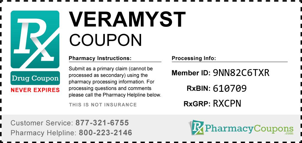 Veramyst Prescription Drug Coupon with Pharmacy Savings