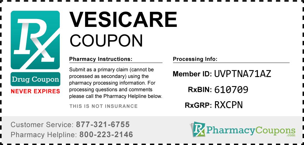 Vesicare Prescription Drug Coupon with Pharmacy Savings