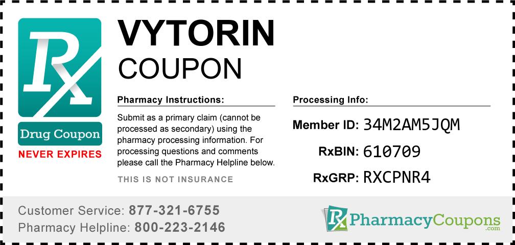 Vytorin Prescription Drug Coupon with Pharmacy Savings