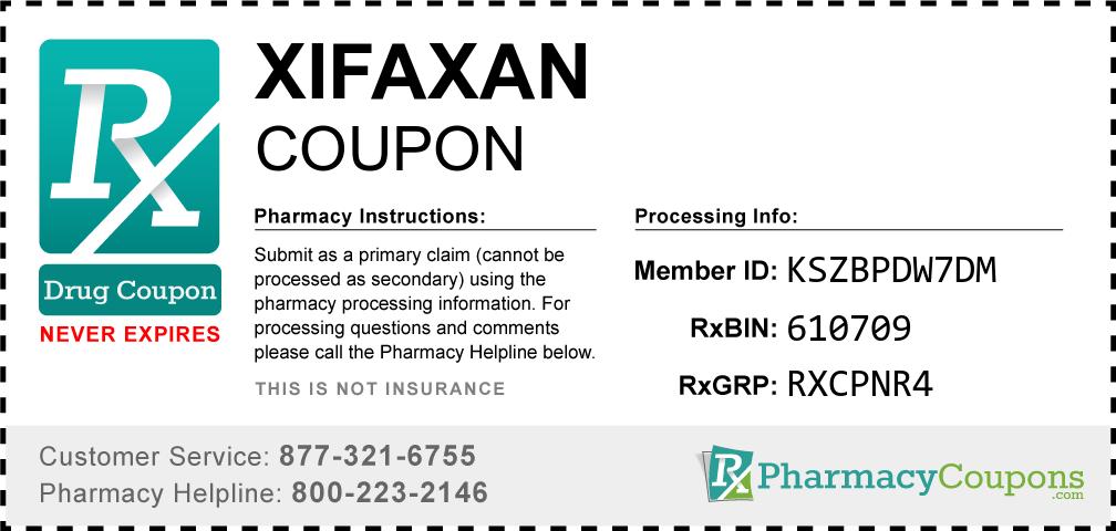 Xifaxan Prescription Drug Coupon with Pharmacy Savings
