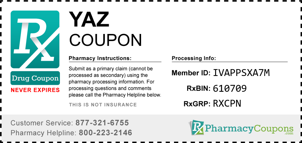 Yaz Prescription Drug Coupon with Pharmacy Savings