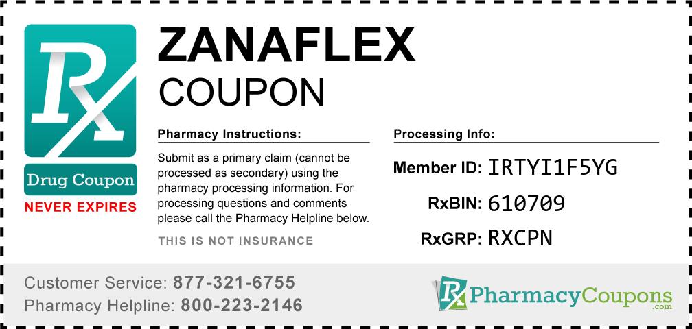 Zanaflex Prescription Drug Coupon with Pharmacy Savings