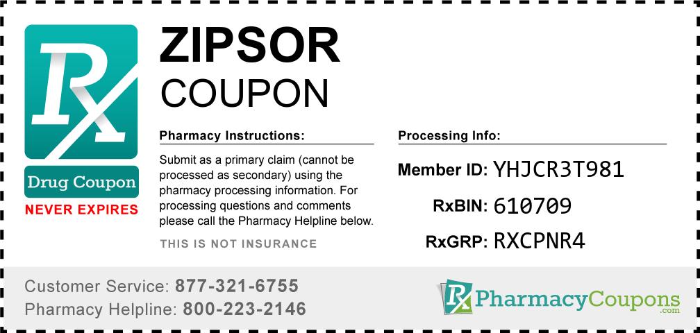Zipsor Prescription Drug Coupon with Pharmacy Savings