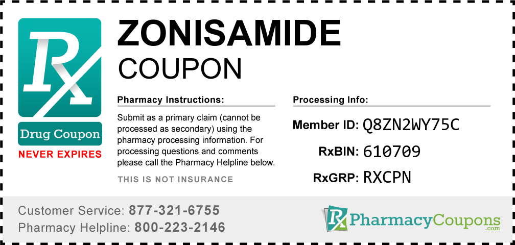Zonisamide Prescription Drug Coupon with Pharmacy Savings