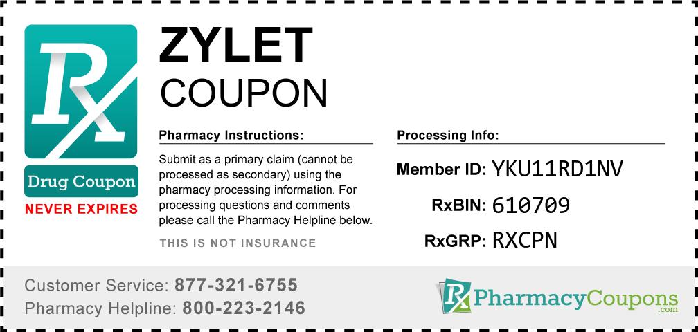 Zylet Prescription Drug Coupon with Pharmacy Savings